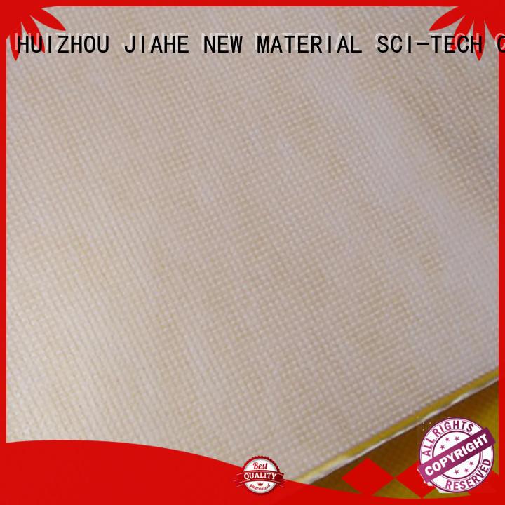 JIAHE Brand material shopping white custom reusable bag fabric