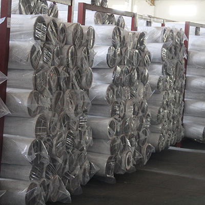blue non woven polyester fabric line for bedding