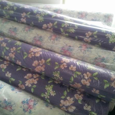 blue non woven polyester fabric line for bedding-12