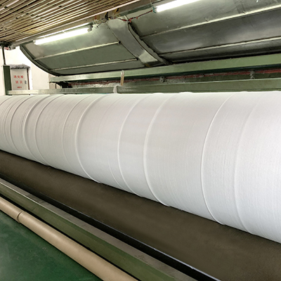 blue non woven polyester fabric line for bedding-21