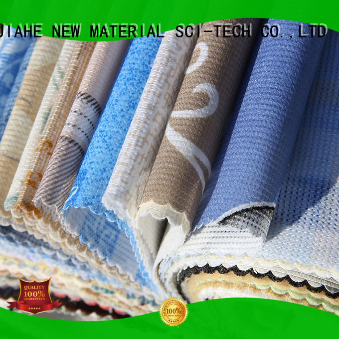 JIAHE print polyester fabric roll manufacturer for furniture