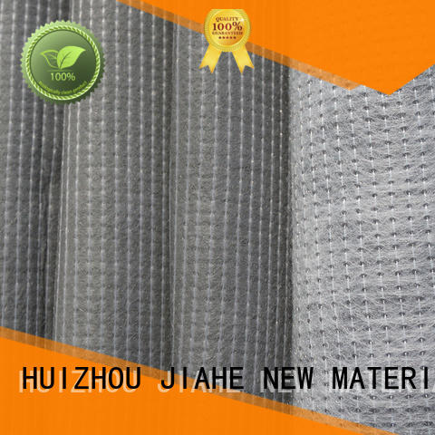 Wholesale producer recycled polyester fabric cream JIAHE Brand coated stitchbonded